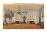 Declaration Chamber, Independence Hall, Philadelphia, Pennsylvania Prints