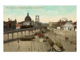 Vista del puente Williamsburg, ciudad de Nueva York Póster
