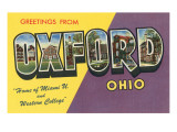 Greetings from Oxford, Ohio Prints