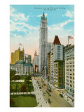 Woolworth Building, Broadway, New York City Prints