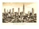 Midtown Skyline, New York City Posters
