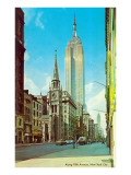 Fifth Avenue Street Scene, New York City Posters