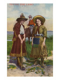 Cowgirls Trying the Lasso Print