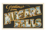 Greetings from Niagara Falls Posters