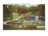 Bandstand in Park, Saratoga Springs, New York Print