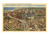 View over Lakeview Terrace, Cleveland, Ohio Prints