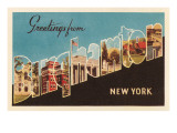 Greetings from Binghampton, New York Prints