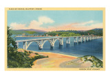 Alsea Bay Bridge, Waldport, Oregon Prints