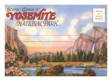 Postcard Folder, Yosemite National Park, California Prints