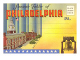 Postcard Folder, Philadelphia, Pennsylvania Print