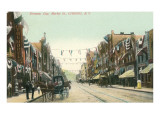 Firemen's Day, Market Street, Corning, New York Posters
