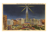 Night, Union Terminal Tower, Cleveland, Ohio Prints