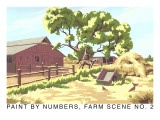 Paint by Numbers, Farm Scene Number 2 Posters
