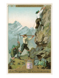 Mountain Climbing Expedition, German Alps Poster