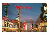 Glitter Gulch, Las Vegas, Nevada Prints