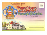 Postcard Folder, Mount Vernon, Alexandria, Virginia Prints