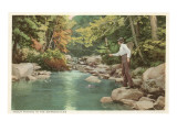 Trout Fishing in the Adirondacks, New York Prints