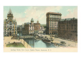 Erie Canal and Opera House, Syracuse, New York Prints