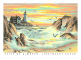 Paint by Numbers, Lighthouse Scene Kunstdrucke