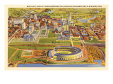 View over Cleveland Stadium, Cleveland, Ohio Prints