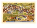 View over Cleveland Stadium, Cleveland, Ohio Prints