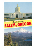 Greetings from Salem, Oregon Posters