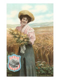 Buckeye Belle in Wheat Field, Ohio Posters