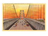 Delaware Bridge, Philadelphia, Pennsylvania Prints