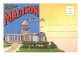 Postcard Folder, Greetings from Madison, Wisconsin Prints