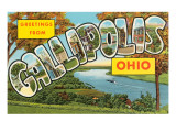 Greetings from Gallipolis, Ohio Prints