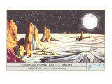 Mercury Landscape Trade Card Prints