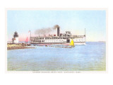 Steamer Rounding Brant Point, Nantucket, Massachusetts Prints