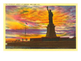 Statue of Liberty at Sunrise, New York City Prints