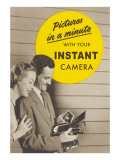 Advertisement for Instant Camera Poster