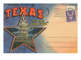 Postcard Folder, Souvenir of Texas Prints