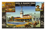 Hotel El Rancho Vegas, Las Vegas, Nevada Print
