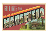 Greetings from Mansfield, Ohio Posters