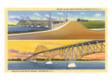 Views of Grand Island Bridge, Niagara Falls, New York Prints