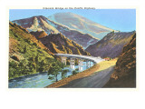 Klamath Bridge on Pacific Highway, Oregon Print