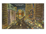 Times Square at Night, New York City Poster