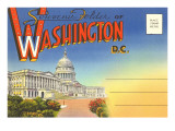 Postcard Folder, Washington, DC Prints