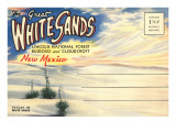 Postcard Folder, Great White Sands, New Mexico Poster
