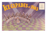 Postcard Folder, Ice-Capades of 1945 Poster