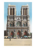 Facade of Notre Dame Cathedral Posters