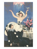 Art Deco Celebration with Pierrot Posters