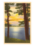 Sonnenaufgang am Schroon-See, New York Poster