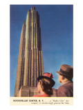 Tourists Gazing at RCA Building, New York City Posters