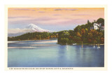 Lake Washington Boulevard and Mt. Rainier, Washington Prints