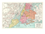 Map of Greater New York City Print