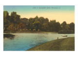 Lake in Rockefeller Park, Cleveland, Ohio Print